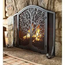 life single panel iron fireplace screen