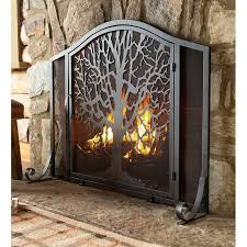 life single panel iron fireplace screen