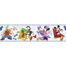 Disney Mickey Friends Peel And Stick Border Kids Room Decor Wallpaper Mickey Mouse Clubhouse Walmart Com Walmart Com