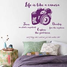 Wall Decal Vinyl Life Like Camera Focus Develop Negatives Etsy
