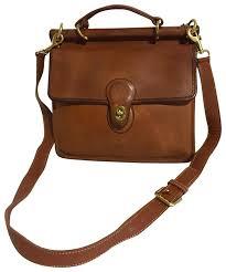 coach cross vintage handbag brown