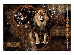 Photo Wallpaper Golden Lion Animals Wall Murals