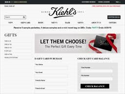 kiehls gift card balance check