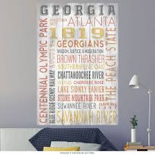 Georgia State Word Cloud Wall Decal At Retro Planet