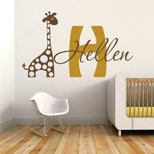Name And Initial Wall Decal Vinyl Giraffe Personalized Saying Nursery Room Decor 6980889364216 Ebay