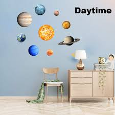 Kids Furniture Decor Storage Removable Glowing Wall Decal For Kids Nursery Bedroom Living Room Decoration