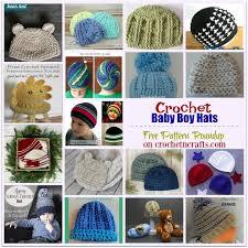crochet baby boy hats free pattern