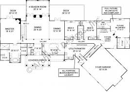 luxury ranch house plan with accessible