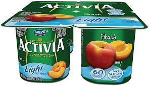 dannon activia light peach yogurt 4 pk