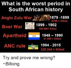 What Is the Worst Period in South African History Anglo Zulu War ...
