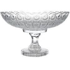crystal glass fruit bowl centerpiece