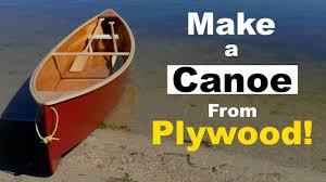 diy quick canoe plywood