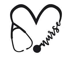 Laptops Nursing Bumper Sticker Nurse Ekg Rn Cna Lpn Gift Custom Nurse Stethoscope Vinyl Decal Car