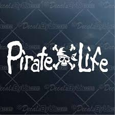 Low Prices On Pirate Life Car Truck Decals