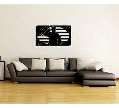 Red Barrel Studio Regine Soldier Salute With Grunge American Flag Vinyl Graphic Wall Decal Wayfair