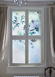 etched glass shutters with jasmine