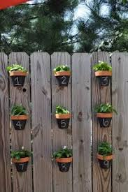 Someday Crafts Pots On A Fence Vertical Herb Garden Hanging Herbs Container Gardening