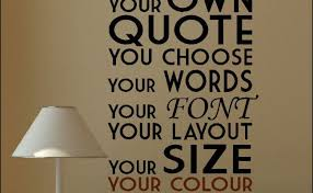 Design Your Own Wall Decal Quote Custom Make By Diyvinyldesigns Cute766