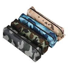 camouflage pen bag pencil brushes pouch