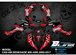Can Am Renegade 800 1000 Cc G2 Graphics Kit Shadow Design Red Bling Graphix