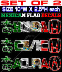 Mexico Mexican Flag Decal Racing Car Decal Kanji Sticker 8001 Set Of 2 Ebay