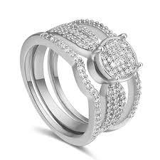 aaa embed zircon ring gold