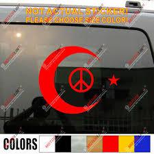 Flag Of Turkey And Anti War Peace Symbol Turkish Flag Car Decal Sticker Ebay