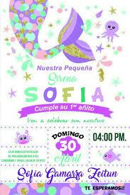 Invitacion De Sirena Invitaciones De La Sirenita Invitaciones
