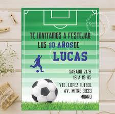 Invitacion Tarjeta Digital Personalizada Whatsapp Futbol 110
