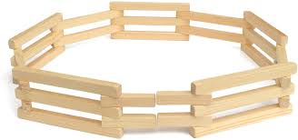 Amazon Com Lapps Toys Wooden Folding Corral Fence Toy Amish Made Toys Games
