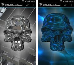 3d skull live wallpaper apk app free