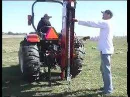 Post Driver Tractor Attachment Youtube