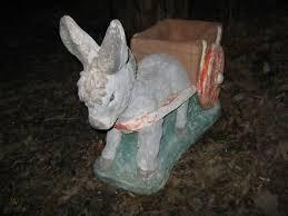 donkey vintage cement garden planter