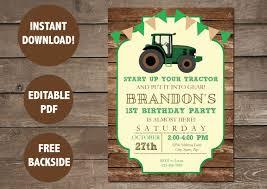 Invitacion De Cumpleanos Del Tractor Invitacion De La Granja