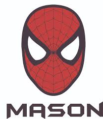 Spider Man Super Hero Face Mask Customized Wall Decal Custom Vinyl Wall Art Personalized Name Baby Girls Boys Kids Bedroom Wall Decal Room Decor Wall Stickers Decoration Size 20x12