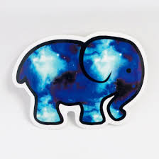 Cute Elephant Blue Car Laptop Phone Vinyl Sticker Select Size