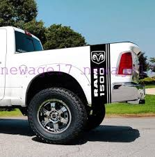 Amazon Com Ram Head Side Bed Stripes Truck Vinyl Decals Stickers Vinyl Car Graphics Black Home Kitchen