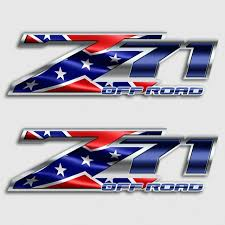Z71 Rebel Flag Off Road Sticker Set Aftershock Decals