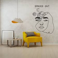 Space Out Silhouette Wall Sticker Art Aesthetic Home Bedroom Room Decoration A001330 Wall Stickers Aliexpress