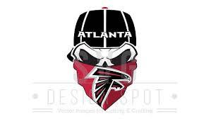 Atlanta Falcons Skull Svg File Atlanta Falcons Svg Wall Art Atlanta Falcons Svg Atlanta Falcons Image Fo