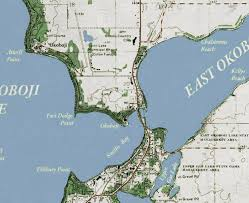 Iowa Great Lakes Classic Gray Style Map ...