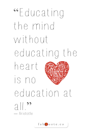 aristotle educating the heart quote