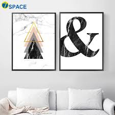 Geometric Marble Ampersand Wall Art Canvas Painting Nordic Posters And Prints Abstract Wall Pictures For Living Room Home Decor Picture For Living Room Wall Picturescanvas Painting Aliexpress