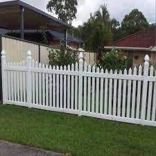 Hot Design Pvc Picket Fence Buy Pvc Fence Design Modern Fences Gate Grill Fence Design Product On Alibaba Com