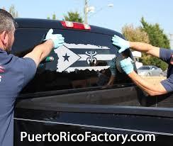 Puerto Rico Map Coqui Flag Car Decal Puerto Rico Factory