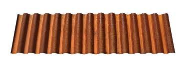 corrugated corten roofing panel