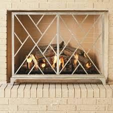 chinoise 1 panel iron fireplace screens
