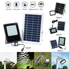 54 120 150led solar power flood light