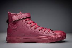 red leather converse high tops 7a6a6 49f42