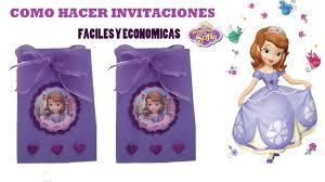 Como Hacer Invitaciones Princesa Sofia Sofia The First Youtube